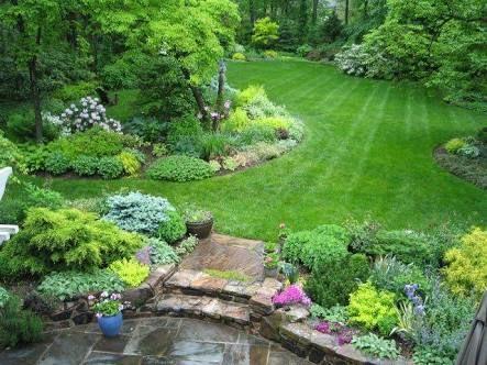 Image Result For 1 2 Acre Gardens Large Backyard Landscaping Large Yard Landscaping Backyard Landscaping
