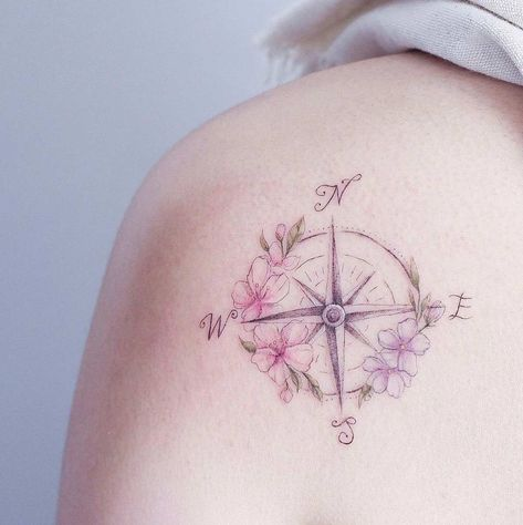 70 Compass Tattoos for Wanderlust Warriors - Straight Blasted