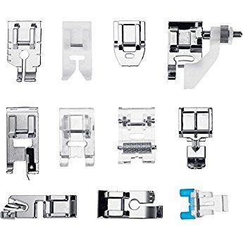 Faburo 11 Piezas Prensatelas Accesorios para M/áquina de coser