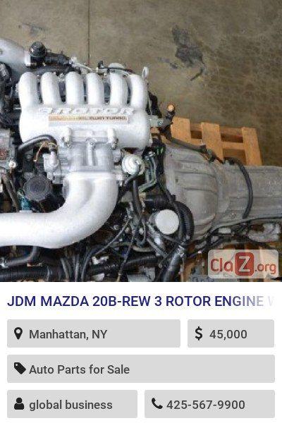 JDM MAZDA 20B-REW 3 ROTOR ENGINE WITH AUTOMATIC TRANSMISSION