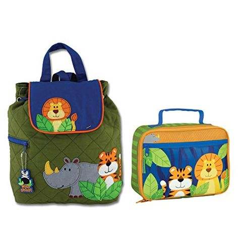 0e31f43da Stephen Joseph Boys Quilted Jungle Animals Backpack and Lunch Box for Kids  >>> This is an Amazon Affiliate link. Click image for more details.