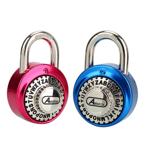 Disc Keyed Padlock Discus Lock with Hardened Steel Shackle for Storage Unit,Trailers,Shed,Fence and Garage 3//8-Inch Shackle