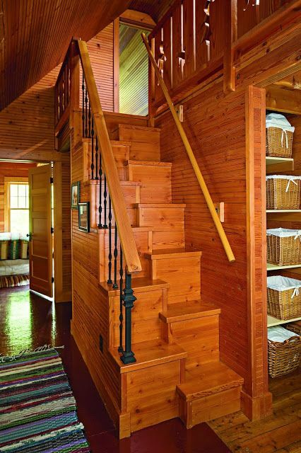 Solution To Steep Stairs Rustic Stairs Stair Plan Stairways
