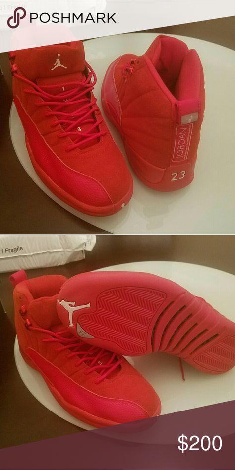 new arrivals c6e77 78105 Jordan 12 Red suede Jordan retro 12 red suede Jordan Shoes ...