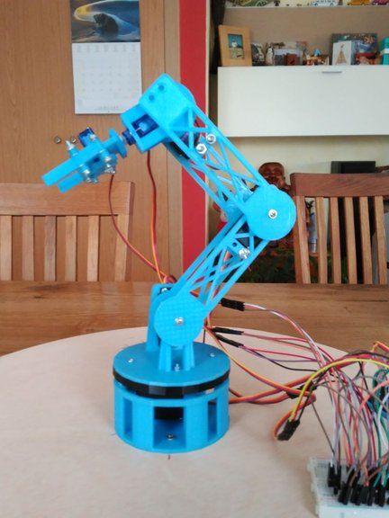 3D Printed ROBOTIC ARM | za praviti | Robot arm, Robot, Robot technology