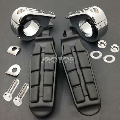 """Long 1-1//4/"""" Crash Bar Highway Foot Pegs Pedals for Harley Davidson Dyna Softail"""