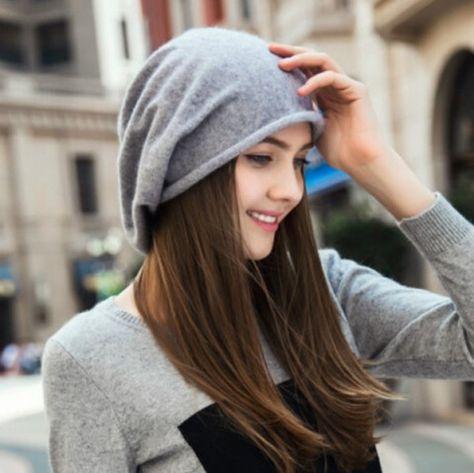Leisure knit beanie hat for women warm winter cashmere hats  fbd16cc32dc