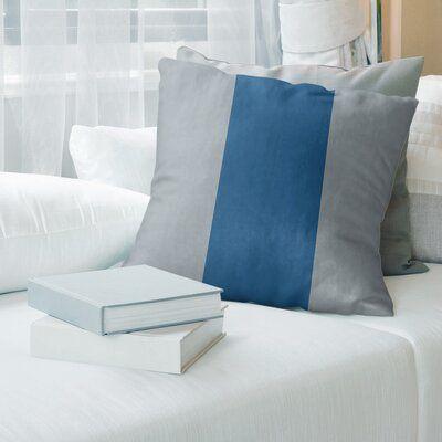 East Urban Home Colorado Hockey Striped Pillow Cover Wayfair In 2020 Football Throw Pillow Suede Pillows Euro Pillow Covers