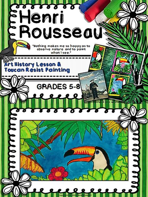 Beautiful Power Point Art Lesson Plan that is ready to go! Create beautiful toucan paintings.