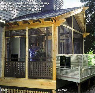 How To Build A Screened In Porch Over An Existing Deck See It S That Easy Easydeckstobuild Deckbuildingplans Building A Deck Patio Backyard