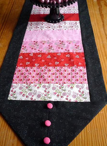 10 Minute Table Runner That Took Me 2 Hours Because I Had To Use All Of My Different Fabrics In 2020 10 Minute Table Runner Fabric Table Runner Valentine Table Runner