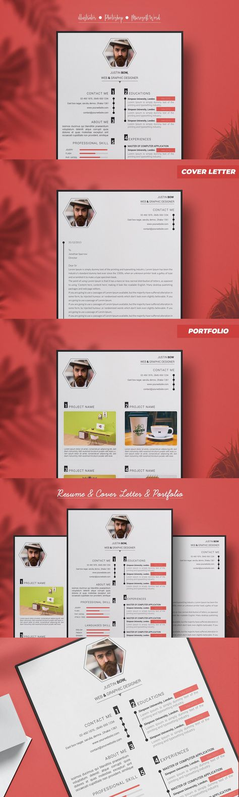 Justin Bow resume template