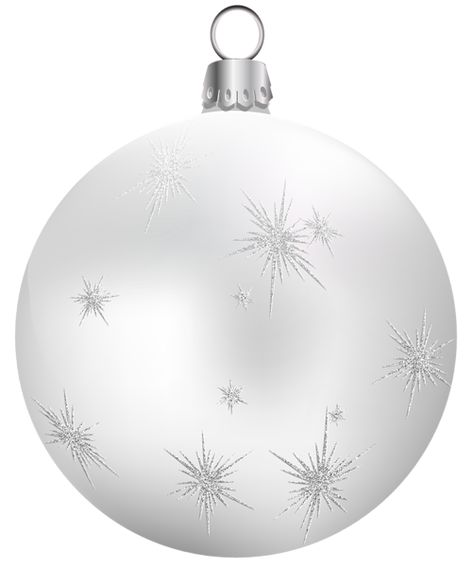 Transparent White Christmas Ball PNG Clipart | 3D CHRISTMAS PNG ...