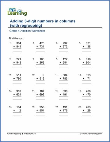 Mathematics Worksheets Grade 4 In 2020 Addition Worksheets Math Addition Worksheets Worksheets For Grade 3