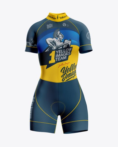 Download Women S Cycling Skinsuit Mockup Front View In Apparel Mockups On Yellow Images Object Mockups Cycling Women Shirt Mockup Clothing Mockup