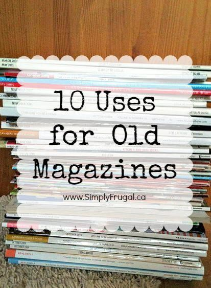 Have you got a pile of magazines laying around that you know you should recycle or donate? Check out this list of 10 uses for old magazines! upcycling crafts recycle crafts remake crafts repurpose crafts reuse old magazines craft ideas diy ideas Old Book Crafts, Newspaper Crafts, Book Page Crafts, Recycled Magazines, Old Magazines, Recycled Books, Upcycled Crafts, Repurposed, Recycled Gifts