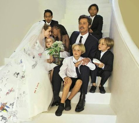 Image result for angelina jolie with her children wedding