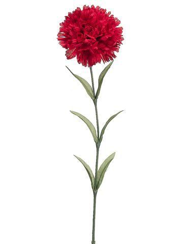 Red Carnation Stem Artificial Christmas Flowers Afloral Com Christmas Flowers Winter Flowers Christmas Flower Arrangements
