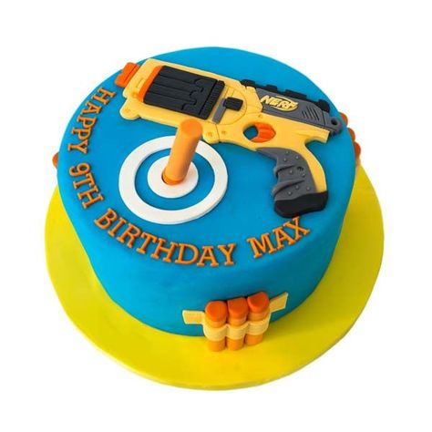NERF gun birthday cake So fun to have customized to your birthday