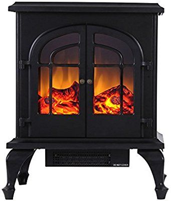 Valuxhome Burbank 24 Inch 750w 1500w Compact Free Standing Electric Fi Free Standing Electric Fireplace Electric Fireplace Heater Fireplace Heater