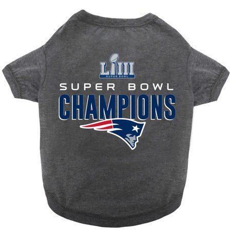 newest 7b744 a9f8e Buy New England Patriots Super Bowl LIII Champions Dog T ...
