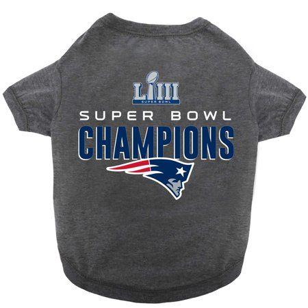 newest 7b744 a9f8e Buy New England Patriots Super Bowl LIII Champions Dog T ...