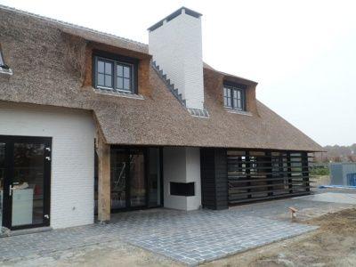 Woonboerderijen on pinterest met modern farmhouse and tuin - Buitenkant terras design ...