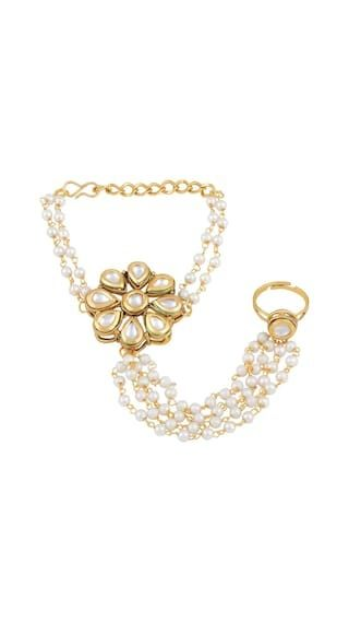 c0fb70585df07 his Asmitta Trendy Flower Shape Gold Plated Designer Hathphool For ...