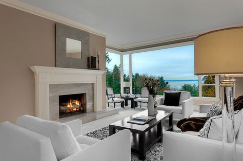 A minimalist and sophisticated living room with impeccable living room decor. Seattle, WA Coldwell Banker BAIN