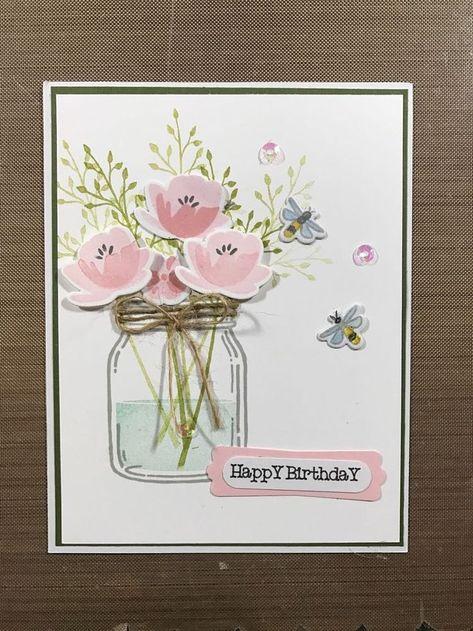 Stampin Up Mason Jar Card Kit of 4   Happy Mom  s  #Card #Day #Happy #Jar #Kit #Mason #mason_jar #Moms #Stampin #Sympathy