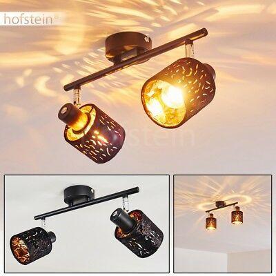 LED Design Decken Lampe Küchen Flur Wohn Schlaf Zimmer Leuchte Samt schwarz//Gold