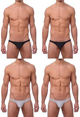 Gary Majdell Sport Mens 1 or 4 Pack Solid Or Print Bikini Underwear