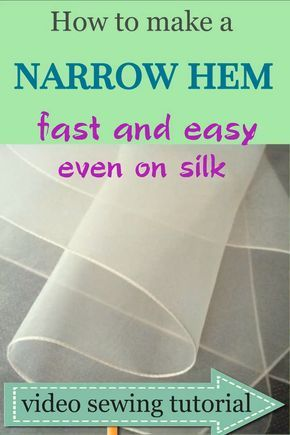 Most up-to-date Totally Free Sewing hacks: how to sew a narrow hem easy even on chiffon fabric / video sewing tutorial Tips Sewing hems on chiffon fabric and other lightweight silk can be tricky. Try hemming chiffon dress u Sewing Hems, Sewing Clothes, How To Sew Clothes, Sewing Sleeves, Serger Sewing, Couture Sewing Techniques, Chanel Couture, Leftover Fabric, Tips & Tricks