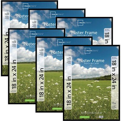 Details About Basic Poster Picture Frame 18x24 Set Of 6 Lightweight Plastic Plexiglass Insert In 2020 Poster Pictures Hanging Picture Frames Poster Frame