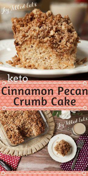 Cinnamon Pecan Crumb Cake Keto Sugar Free Low Carb Gluten