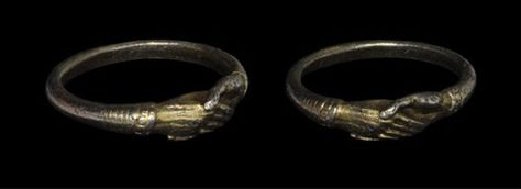 Medieval - Silver Clasped Hands Finger Ring: circa 14th- 16th century AD