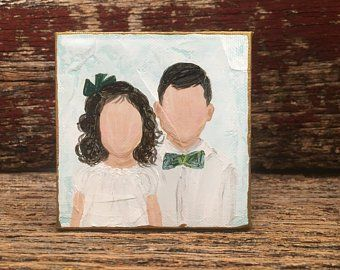 Custom Portrait From Picture Photo Made Into Painting Portrait Sorority Gift Faceless Portrait Coworker Friend Gift