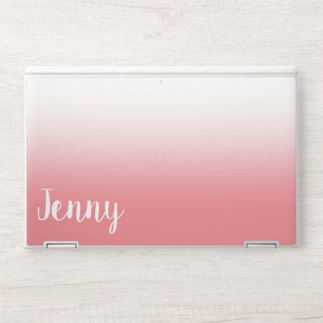 Personalized Coral And White Ombre Hp Laptop Skin Zazzle Com Hp Laptop Skin Custom Laptop Skin Hp Laptop