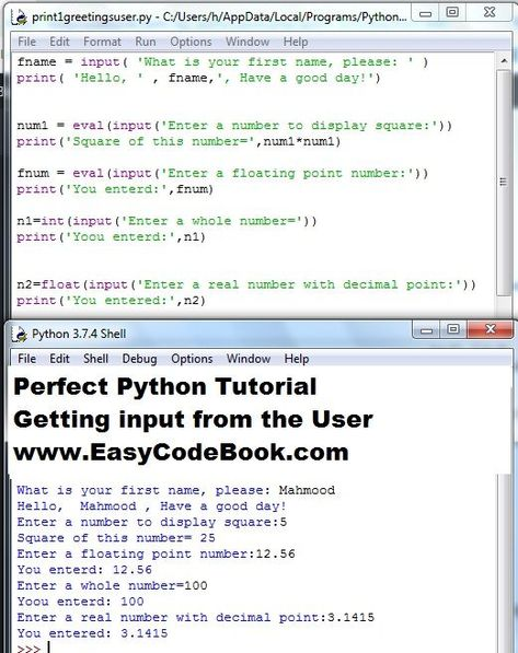 Python Input Function To Get User Input Easycodebook Com How To Get Double Quote Python