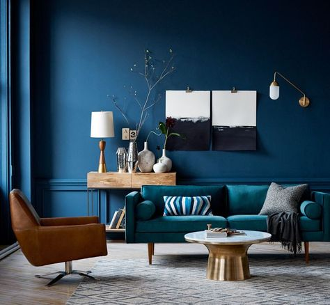 SW 6510 - Loyal Blue Sherwin Williams Have NEVER gone this deep with a color for walls...can I do this in Office Bedroom or the Laundry Room with white Accents?