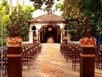 Gorgeous Ceremony Set Up At Rancho Las Lomas Im A Sucker For Hacienda Style Wedding Venue