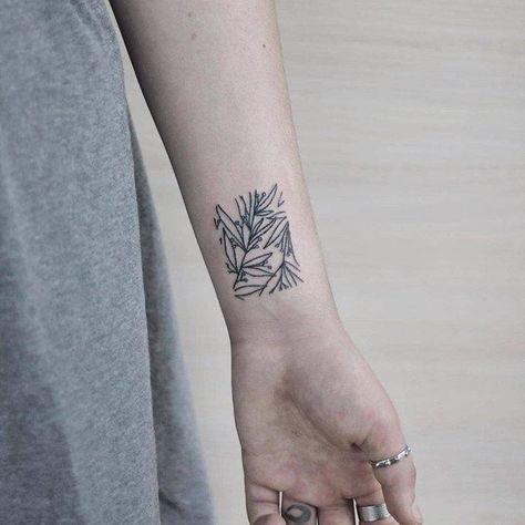 Beautiful Stick and Poke Flower Tattoos