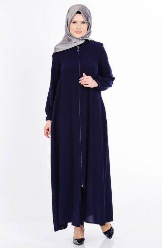 Sefamerve Fermuarli Ferace 6112 01 Lacivert Moda Stilleri The Dress Elbiseler