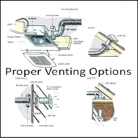 how to vent a bathroom fan through soffit bath exhaust orient