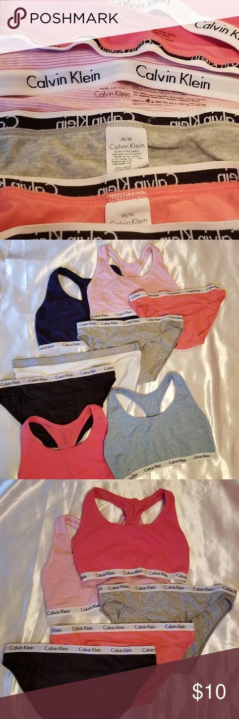 2fa5328b01ea Calvin Klein sports bra w panty set Calvin Klein sports bras and panties  Washed and never