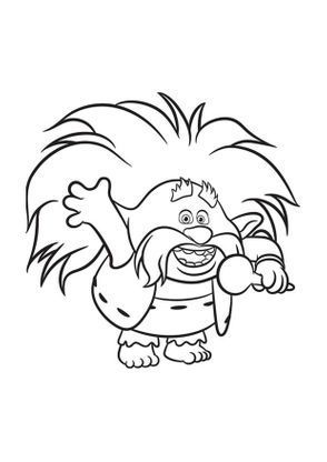 Les Trolls Roi Papy Coloring Pages For Kids Christmas