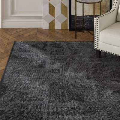 House Of Hampton Chipping Ongar Dark Gray Area Rug Wayfair Dark Gray Area Rug Purple Area Rugs Grey Area Rug