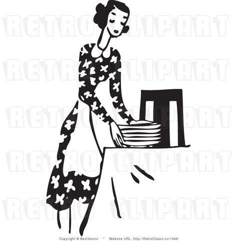 Setting The Table Clipart Kid Set The Table Clip Art Kid Clip Art Retro Illustration Clip Art Vintage