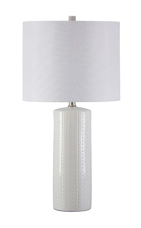 "Steuben 25.25"" H Table Lamp with Drum Shade"