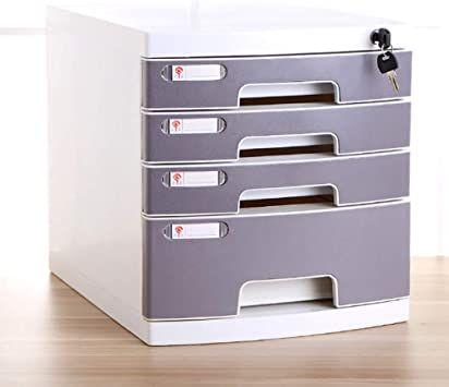Office Supplies File cabinet File Cabinet Lockable Desktop Drawer Organizer Landslide Track Small White Label Various Storage Ring Cabinet File Color : Silver 30X36X30.5CM